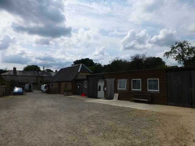 Some of the farm buildings at Farm Fest 2014, held at Parsonage Farm, Andover