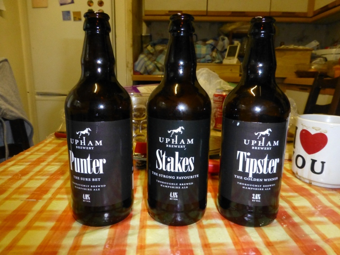 Some of Upham Brewery's finest Ales